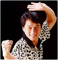 Jackie Chan in martial arts pose