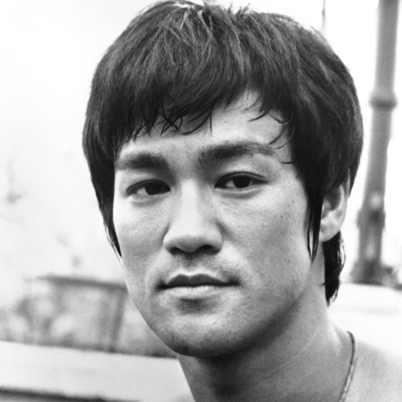 bruce lee head shot