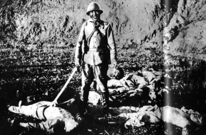 chinese soldier around dead bodies