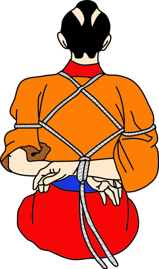 illustration of tied up individual