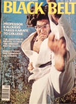sensei edward kaloudis on the cover of black belt magazine