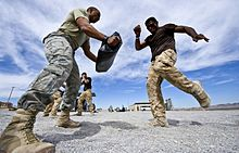 Israeli krav maga training british soldiers