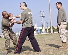 marines training in Krav Maga
