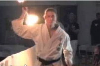 Tsunami Flaming Areno weapons kon bo kata koei kan karate do