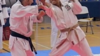 Tai Kai 2017 — Nijin Goshin Jittsu - Gyaku-Te — Close-up insets  nage no multiple opponents redirecting ki energy force chi master shihan kyoshi hanchi jack m sabat sensei