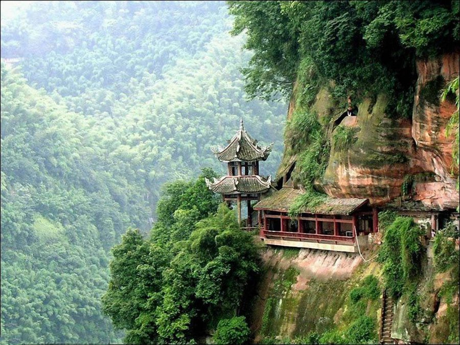 temple on side of a mountain